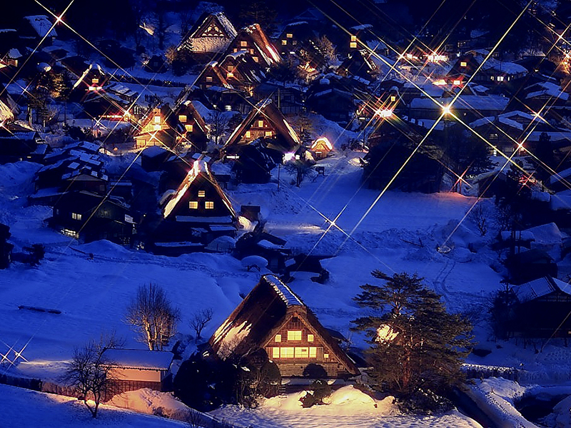 白川郷冬のライトアップ