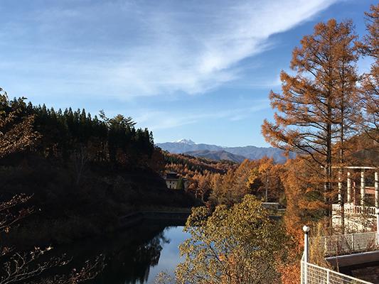 龍リゾート&スパから見える風景、日本三名山(日本三霊山)のひとつ『白山』