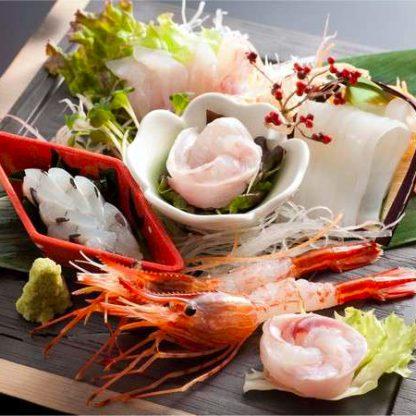 龍リゾート&スパの『金沢朝市直送の鮮魚五種盛り』