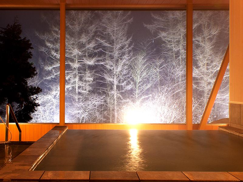 龍リゾート、雪見露天、温泉