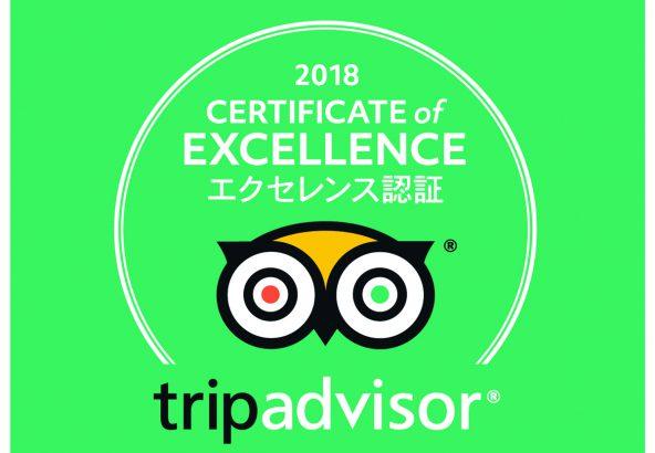 トリップアドバイザー 2018年エクセレンス認証の認定施設に、龍リゾート&スパが選ばれました!