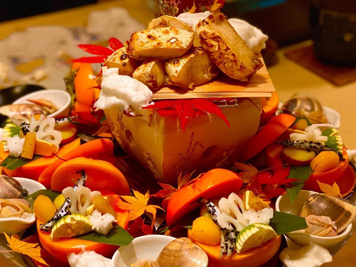 秋の一コマ・・・美食と景色♪