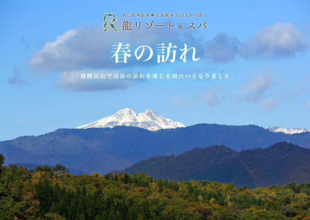 飛騨高山 春の訪れ